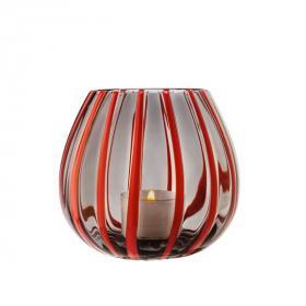 Lanterna Coralle/Grigio & 4 Tealight Miste