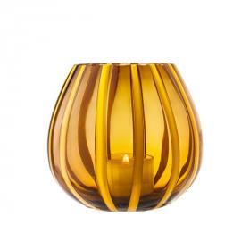 Lanterna Girasole/Marrone & 4 Tealight Miste