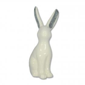 Formano - Hase weiß-silber 25 cm
