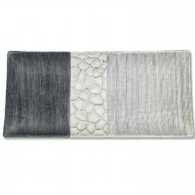 Formano - Dekoschale silber-grau 39 cm