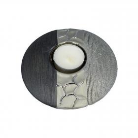 Formano - Teelichthalter silber-grau 13 cm