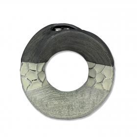 Formano - Dekovase rund silber-grau 18cm
