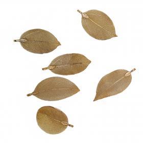 Blatt fein gold 6 cm (6 Stück)