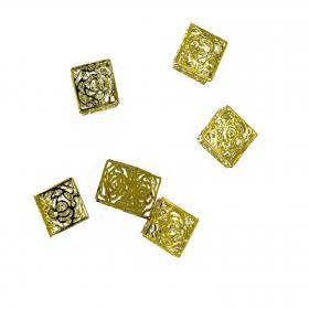 Würfel Kirstall gold 3cm (6 Stück)