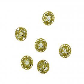 Kugel Kirstall gold 3 cm (6 Stück)