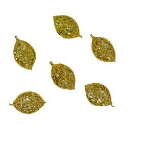 Blatt Kirstall gold 5 cm (6 Stück)