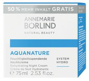 AQUANATURE Feuchtigkeitsspendende Nachtcreme + 50% Gratis