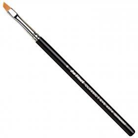Eyeliner / Liner/Augenbrauenpinsel schräg (Kunstfaser), Gr. 8