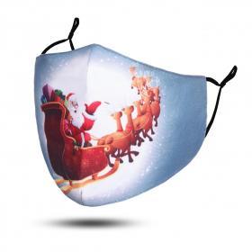 Community-Maske Weihnachtsschlitten Grau